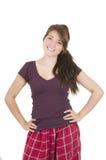 Beautiful young girl student teenager wearing Stock Photo