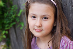 Beautiful young girl with a thoughtful expression Royalty Free Stock Photos