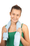 Beautiful young girl with a towel Stock Photography