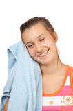 Beautiful young girl with a towel Stock Image