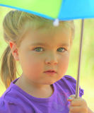 Beautiful Young Girl with Umbrella Stock Photos