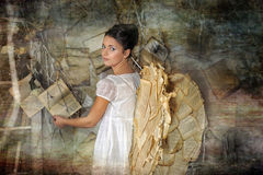 Beautiful young girl in a vintage dress. Royalty Free Stock Photo