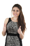 Beautiful young girl wearing black dress posing Royalty Free Stock Image
