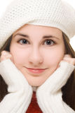 Beautiful young girl in winter outfit Royalty Free Stock Image