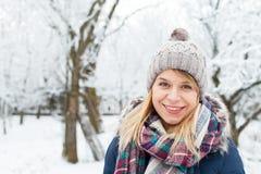 Beautiful young girl - wintertime stock photo