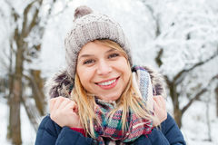 Beautiful young girl - wintertime royalty free stock photography
