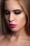 Beautiful young girl witn pink lips Royalty Free Stock Images