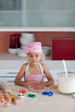 Beautiful young Girl Working in the Kitchen Royalty Free Stock Photography