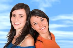 Beautiful young girls Royalty Free Stock Images