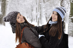 Beautiful young girls Stock Images
