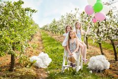 Free Beautiful Young Girls In Spring Garden Royalty Free Stock Photo - 109528485