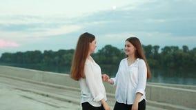Beautiful young girls stock video