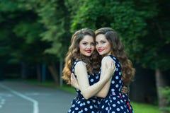 Beautiful young girls Stock Photo