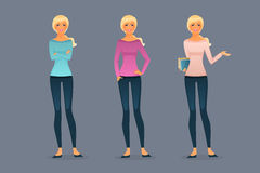 Beautiful and young girls. Vector illustration of Beautiful and young girls Royalty Free Stock Image