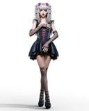 Beautiful young goth woman. Stock Photos