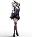 Beautiful young goth woman. Royalty Free Stock Photos