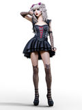 Beautiful young goth woman. Stock Photo