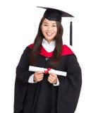 Beautiful young graduation woman Stock Photo