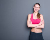 Beautiful young gym woman Stock Photography