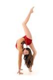 Beautiful young gymnast Stock Photos