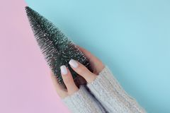 Trendy female manicure. royalty free stock image