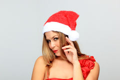 Beautiful Young Happy Christmas Woman Royalty Free Stock Photo