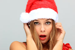 Beautiful Young Happy Christmas Woman Royalty Free Stock Photos