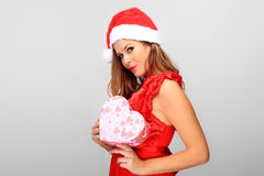 Beautiful Young Happy Christmas Woman Royalty Free Stock Images