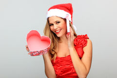 Beautiful Young Happy Christmas Woman Stock Image