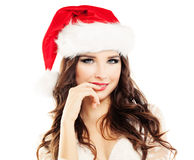 Beautiful Young Happy Christmas Woman Stock Photos