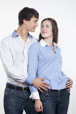 Beautiful Young Happy Couple Royalty Free Stock Image