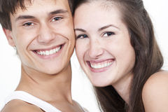 Beautiful Young Happy Couple Royalty Free Stock Photos