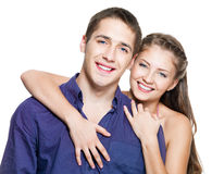 Beautiful young happy couple royalty free stock photo