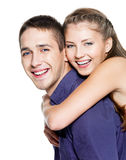 Beautiful young happy couple Stock Photo