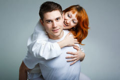 Beautiful Young Happy Couple Royalty Free Stock Images
