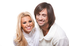 Beautiful young happy couple Stock Photography