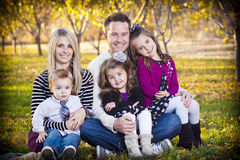 Beautiful Young Happy Family Portrait Stock Photo