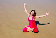 Beautiful young happy holiday woman Stock Photo