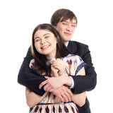 Beautiful young happy laughing couple Stock Images