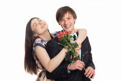 Beautiful young happy laughing couple Royalty Free Stock Photo
