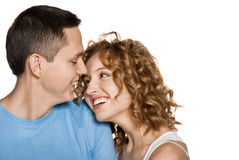 Beautiful young happy smiling couple Royalty Free Stock Photos