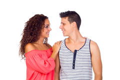 Beautiful Young happy smiling couple Royalty Free Stock Image