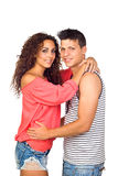 Beautiful Young happy smiling couple Stock Photography