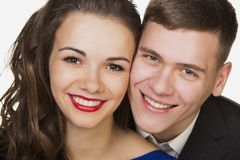 Beautiful young happy smiling couple Stock Image