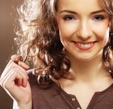 Beautiful young happy smiling woman Royalty Free Stock Photography