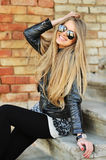 Beautiful young happy smiling woman in sunglasses Royalty Free Stock Photos