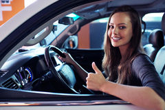 Free Beautiful Young Happy Woman In Car. Stock Images - 68119884