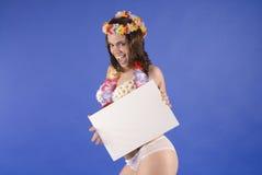 Beautiful young hawaiian tropical woman Royalty Free Stock Images