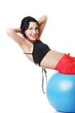 Beautiful  woman with pilates exercise ball. Stock Image