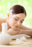 Beautiful, young and healthy woman in a spa salon Stock Photography